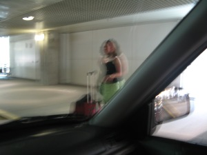 Picking me up at the airport.