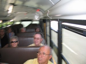 Dad and the PS#4 gang on the bus trip.