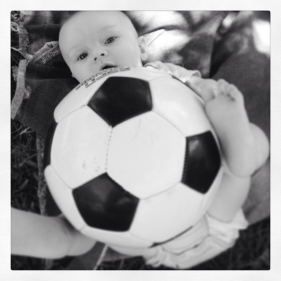 """""""Whoa, this ball is as big as I am."""""""