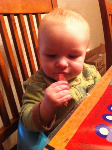 Baby's first bacon.